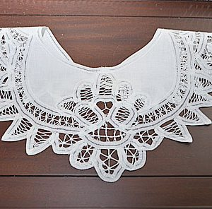 battenburg lace collar, lace collars