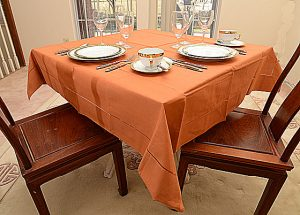 Burnt Orange Tablecloth